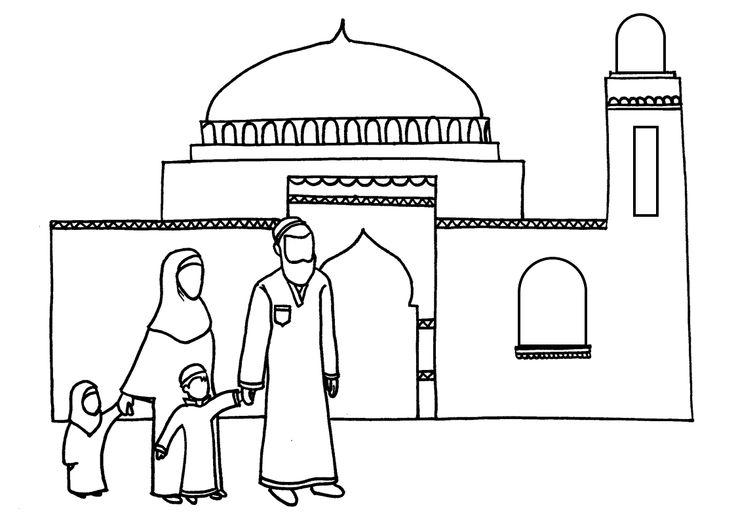 Coloriage le vendredi à la mosquée