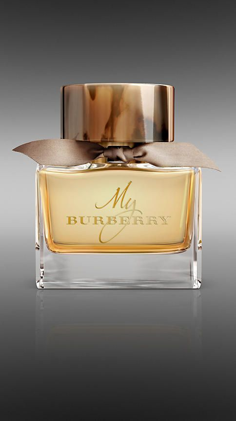 """Burberry: My Burberry Eau de Parfum / """"...The My Burberry scent is a contemporary British grand floral...Top notes of sweet pea and bergamot fuse with a geranium leaf, golden quince and freesia heart, rounded out with a base of patchouli and rain-tipped damask and centifolia roses..."""""""