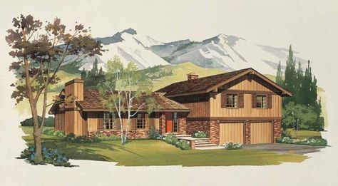 Split Level House Plan with 1912 Square Feet and 4 Bedrooms(s) from Dream Home Source | House Plan Code DHSW01795