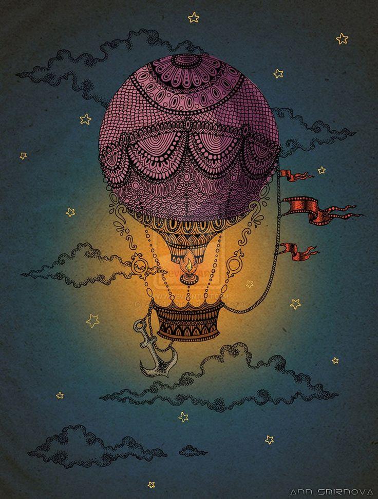 Air Balloon in Deep Space by AnnASmirnova on DeviantArt My next tatto