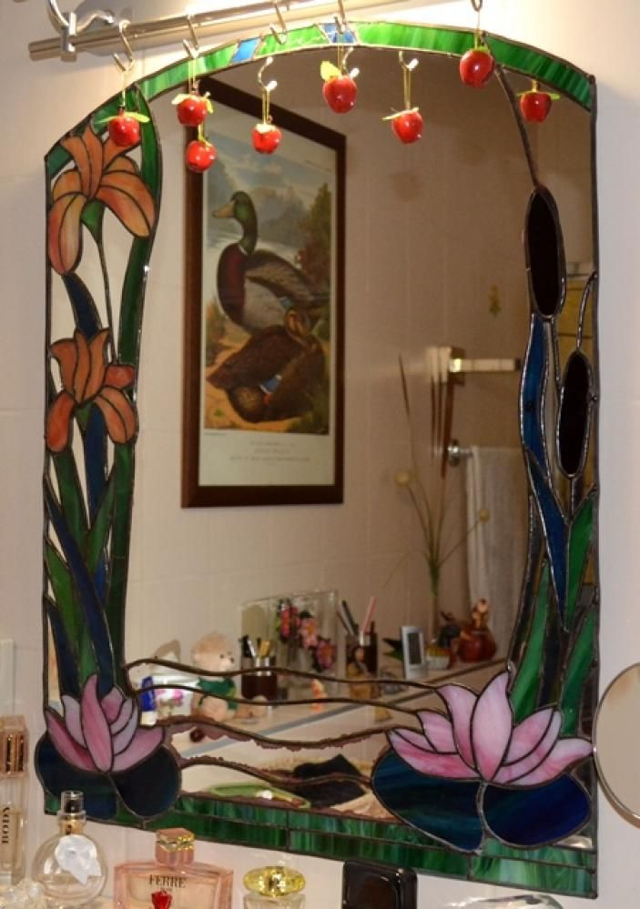 51 best stained glass mirrors images on pinterest glass for Glass and mirror craft