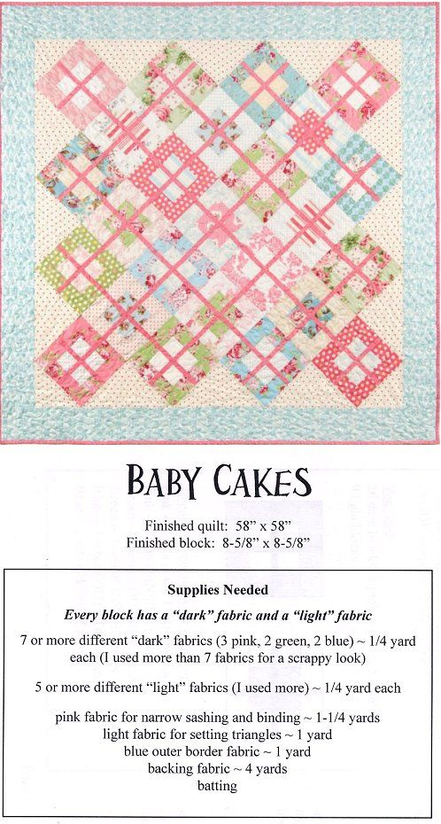 Baby Quilt Patterns - Love this pattern, not just for a baby quilt! And that it's easy level quilting.