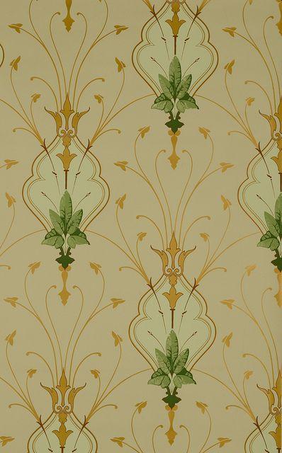 7 best Art Nouveau Wallpaper images on Pinterest   Art nouveau ...
