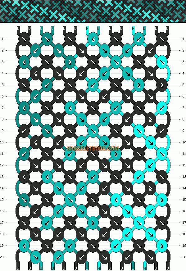 ****Normal Friendship Bracelet Pattern #10848 - BraceletBook.com