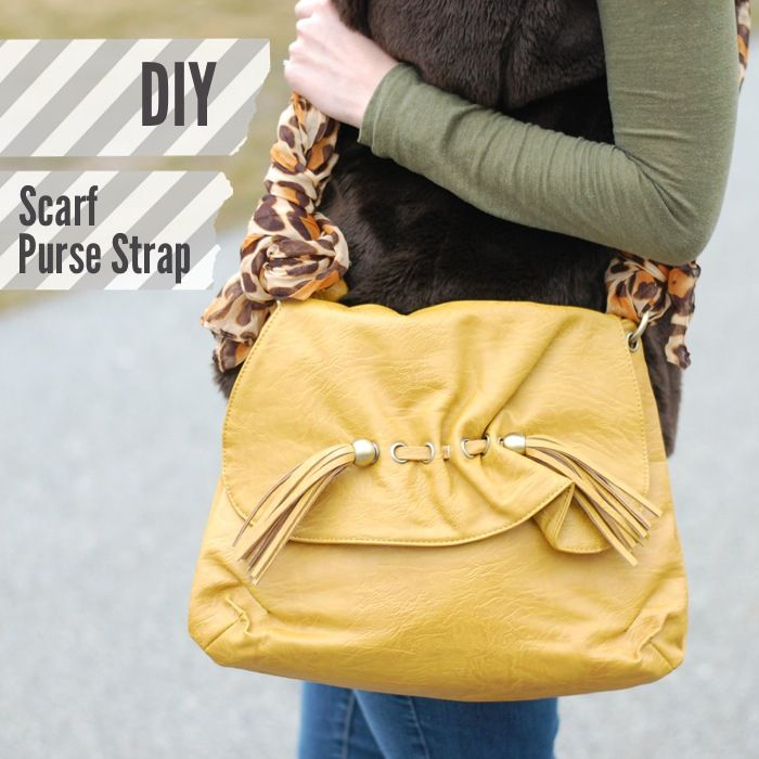 Today we've got a seriously easy, no-sew DIY for you — how to use a scarf as a purse strap! I know here in the scarf office we always repeat ourselves over and over that there are prett...