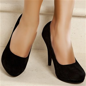 Escarpins women black heels 11 cm size 38, online buy Escarpins woman MODATOI