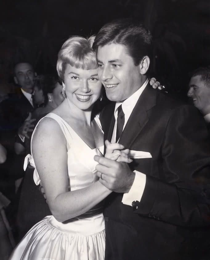 The Nifty Fifties — Doris Day and Jerry Lewis on the dancefloor.