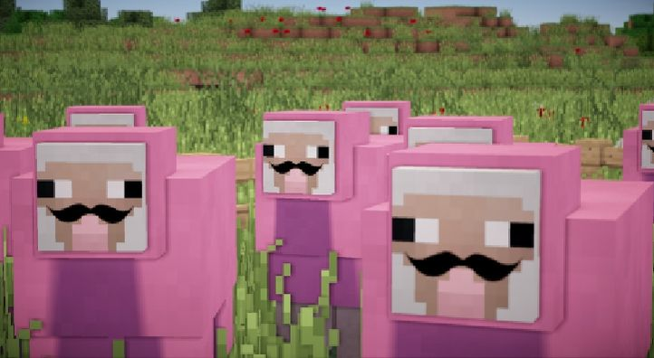 He is my most favorite character lol Minecraft pink sheep