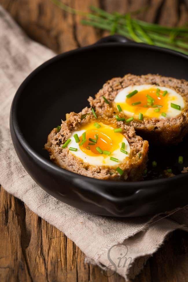 Schotse eieren - gehakt gevuld met ei - recept