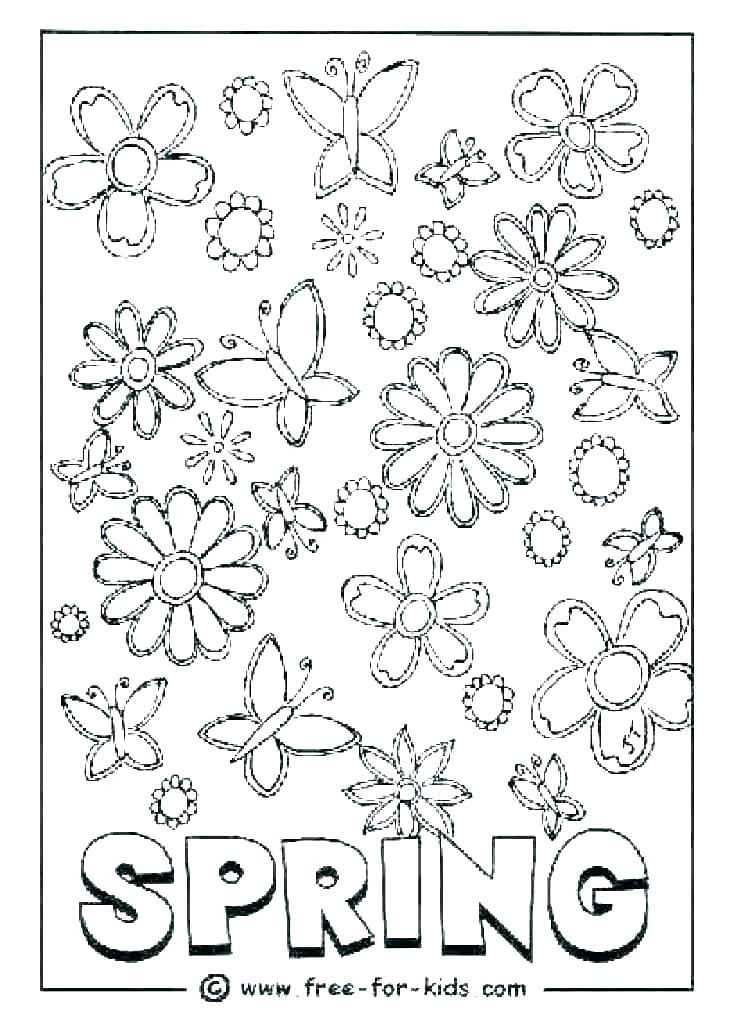 76 Printable Coloring Pages Of Spring Printable Coloring Pages Kindergarten Coloring Pages Coloring Pages