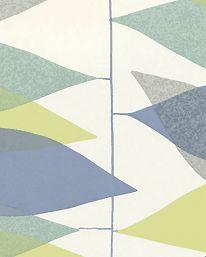 Tapet Miro Turquoise/Lime från Sanderson 555kr/rulle