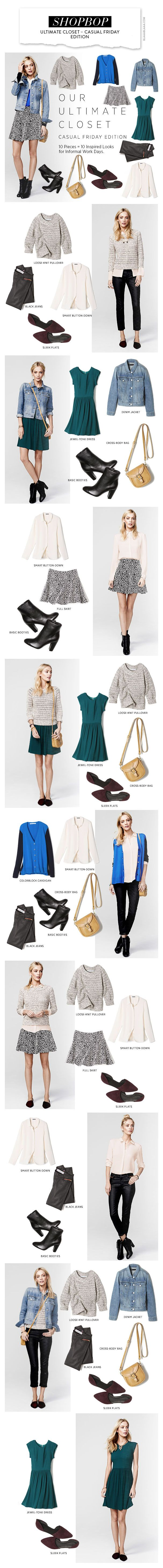 Shopbop: Ultimate Closet – Casual Friday Edition