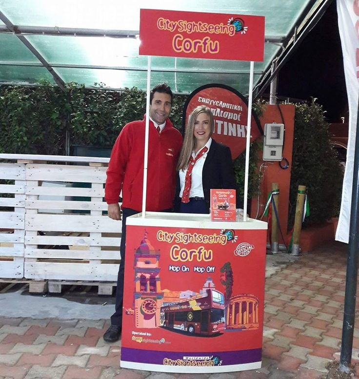 Our colleagues, Mary and Nick, representing Corfu Sightseeing & Tours at the 3rd annual Corfu Beer Festival in Arillas,Corfu. #corfuBeerFestival #corfuSightseeing #Arillas #corfu #greece