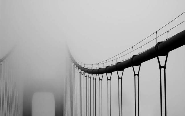 """Vanishing Bridge"" by Matt Hanson, Redwood City // Golden Gate Bridge - San Francisco, CA. // Imagekind.com -- Buy stunning, museum-quality fine art prints, framed prints, and canvas prints directly from independent working artists and photographers."