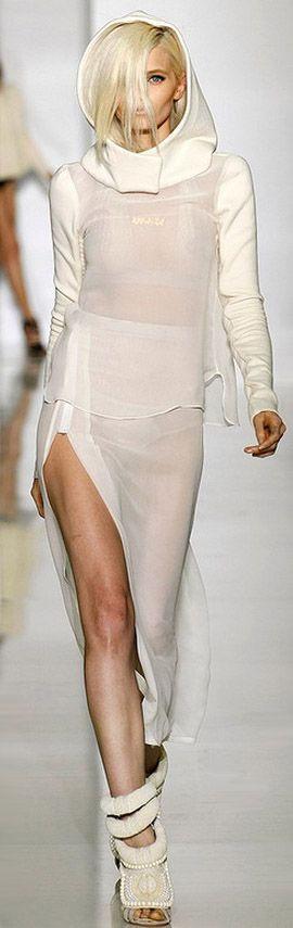 Kanye West Spring/Summer 2012. if there's another girl with the same hair, they could walk right into each other =)