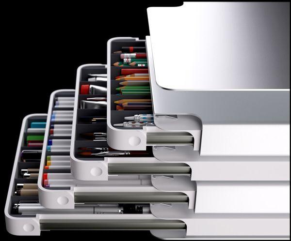 Drawr Desktop Organizer by Sam Lavoie, via Behance