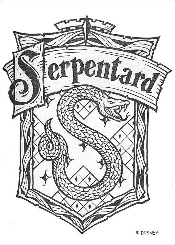 Harry Potter~le blason de Serpentard
