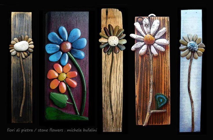 will have to try myself...my favorite flower and use Agates I have found...will have to look for the driftwood too  by artist: Michela Bufalini
