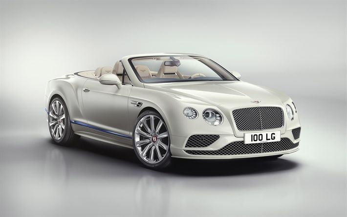 Download wallpapers Bentley Continental GT Convertible, 4k, 2018 cars, Galene Edition, tuning, Mulliner Studio, Bentley Continental GT, Bentley