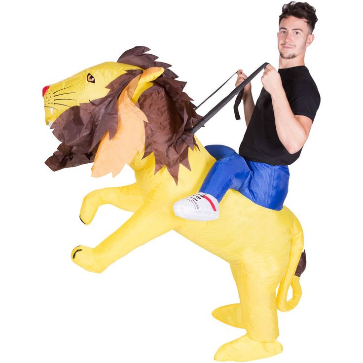 INFLATABLE LION FANCY DRESS COSTUME SAFARI ZOO SUIT HEN STAG OUTFIT