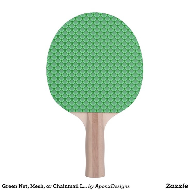 Green Net, Mesh, or Chainmail Like Pattern Paddle