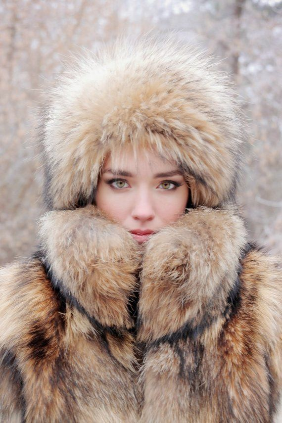 Real raccoon fur hat for women fur hat 3a06acc3d470