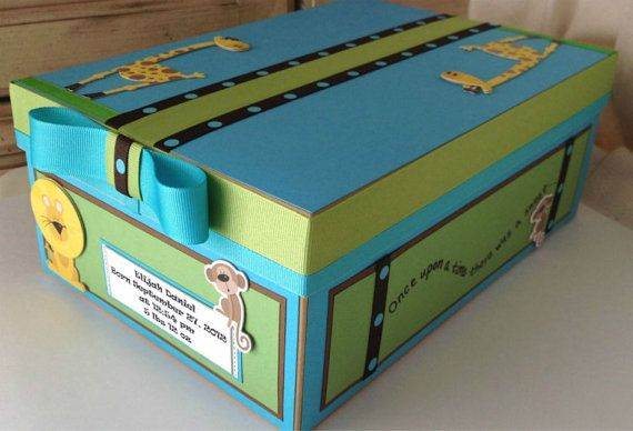 Custom Baby Box Baby Gift Box Baby Memory Box Baby by AllToPeaces, $30.00