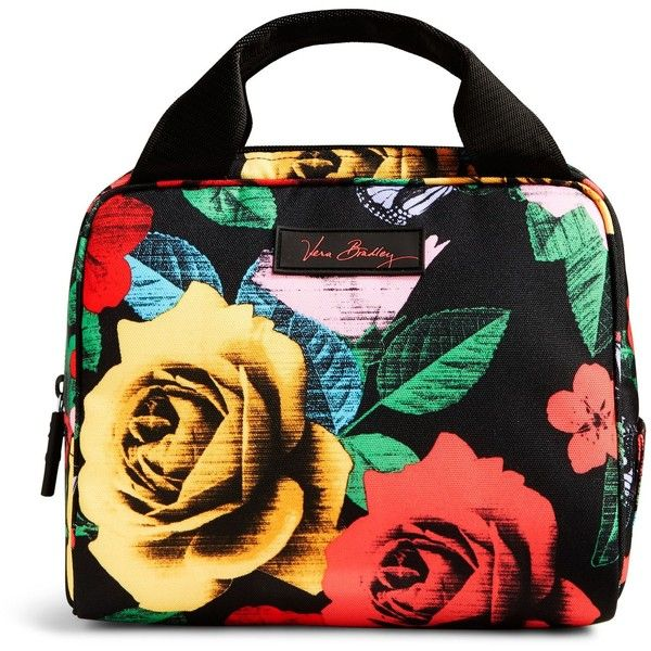 Vera Bradley Lighten Up Lunch Cooler Bag in Imperial Rose ($34) ❤ liked on Polyvore featuring home, kitchen & dining, food storage containers, havana rose, vera bradley bags, vera bradley and lunch cooler
