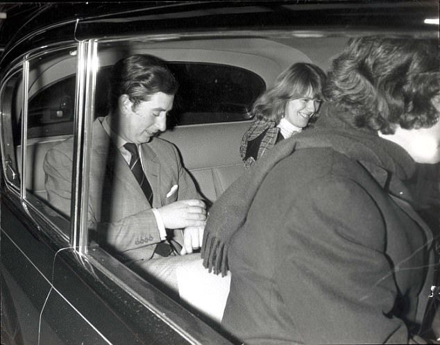 Above the pair are seen leaving the theatre after watching Deja Revue starring Sheila Hancock, and George Cole