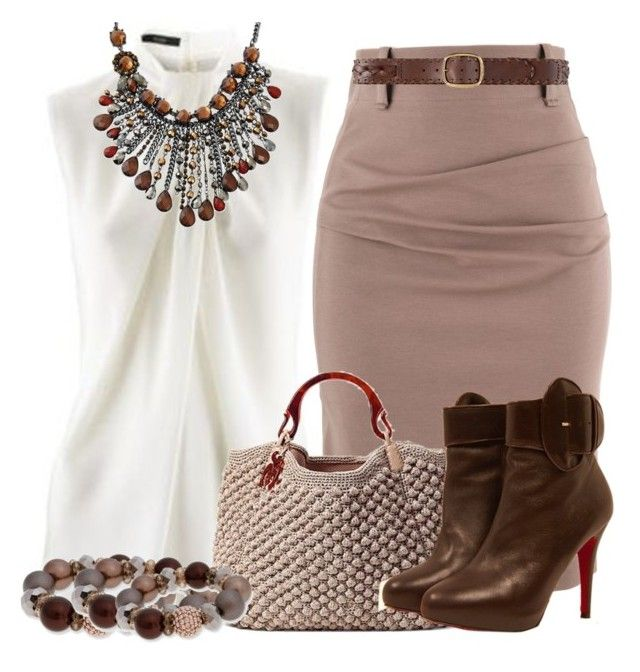 Untitled #1433 by mrsdarlene on Polyvore featuring polyvore, fashion, style, Christian Louboutin, Erica Lyons, Linea Pelle and clothing