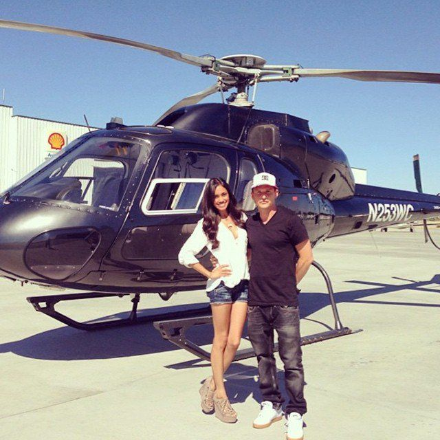 Pin for Later: 14 Ways Rob Dyrdek and His Wife's Romance Is Totally Over-the-Top (and Adorable!) Helicopters Are a Completely Normal Mode of Transportation