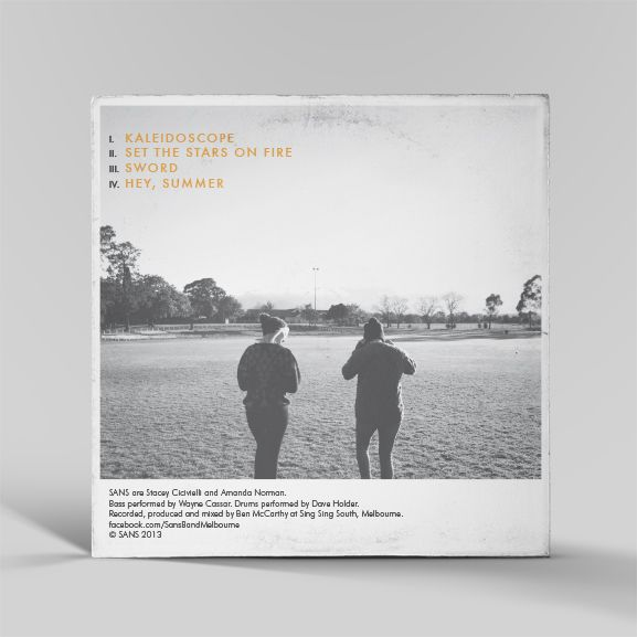 Record sleeve design by www.littlevoicescreative.com for sansband.bandcamp.com