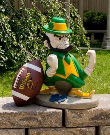 Stone Mascots  University of Notre Dame Leprechaun College Stone Mascot -- You can find more details by visiting the image link.