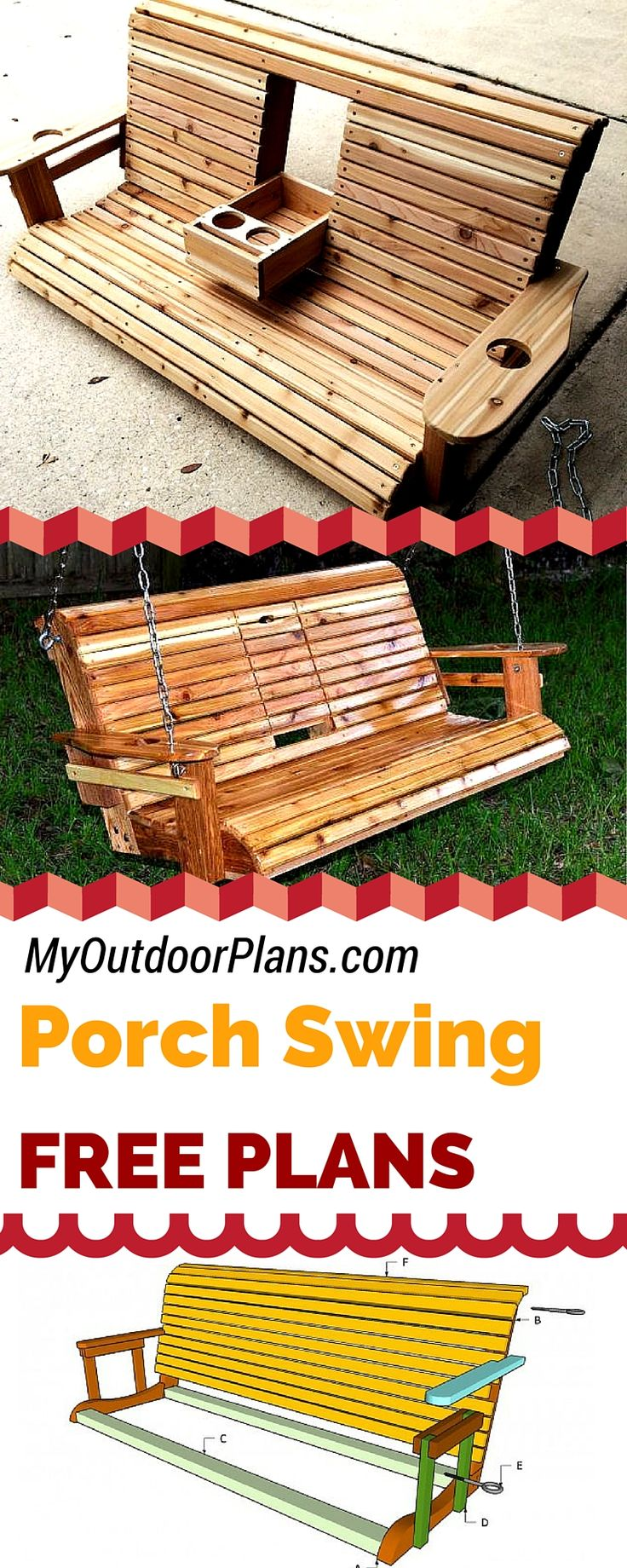 Free porch swing plans - Learn how to build a porch swing with my free plans and...