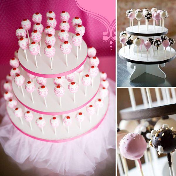 cake pops or lollipop tower...