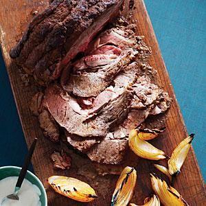 Oven-Smoked Chuck-Eye with Horseradish Cream   MyRecipes.com