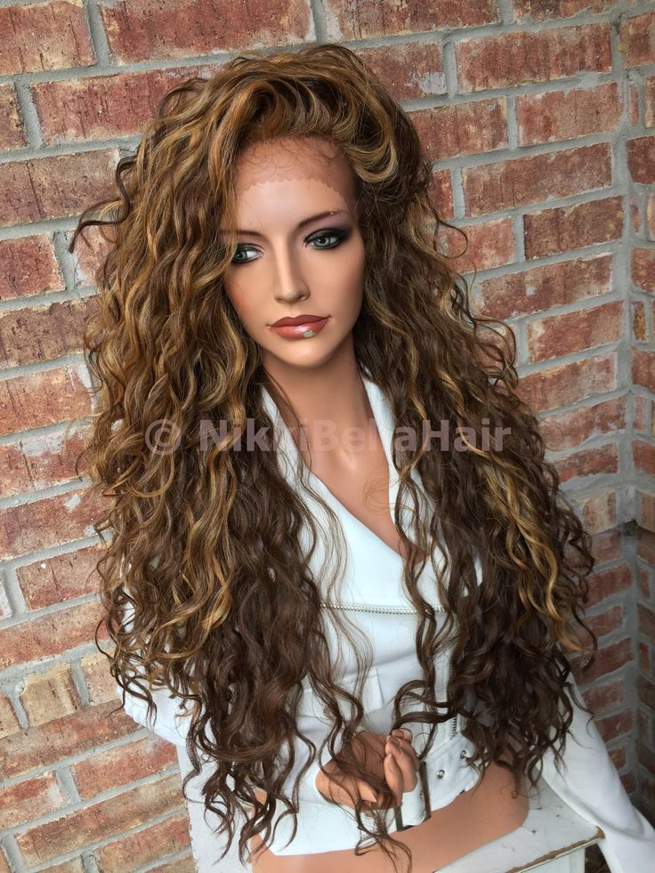 Honey Blonde Balayage Wavy Lace front wig 26""