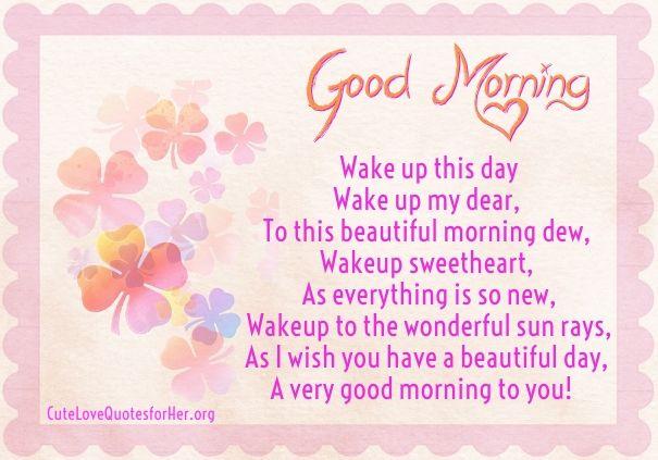 Good Morning Beautiful Poems