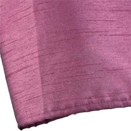 aux Silk Shower Curtain 1800 x 1800mm w/ 12 Curtain Rings - Damson - 63800
