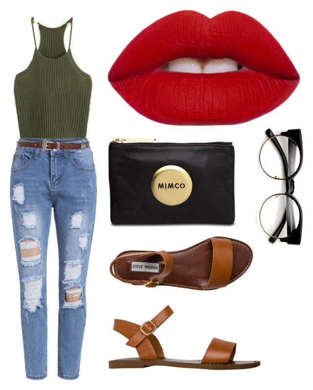 Untitled #74 by katelin-louise on Polyvore featuring polyvore, fashion, style, Steve Madden, Yves Saint Laurent, Lime Crime, Mimco and clothing