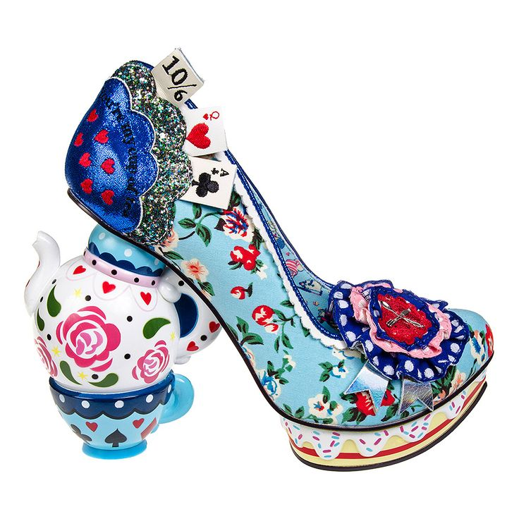 Irregular Choice One Lump Or Two? Heel Shoes (Blue)