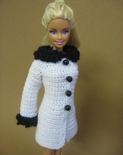 Barbie- new winter coat - no pattern, but must try to make this