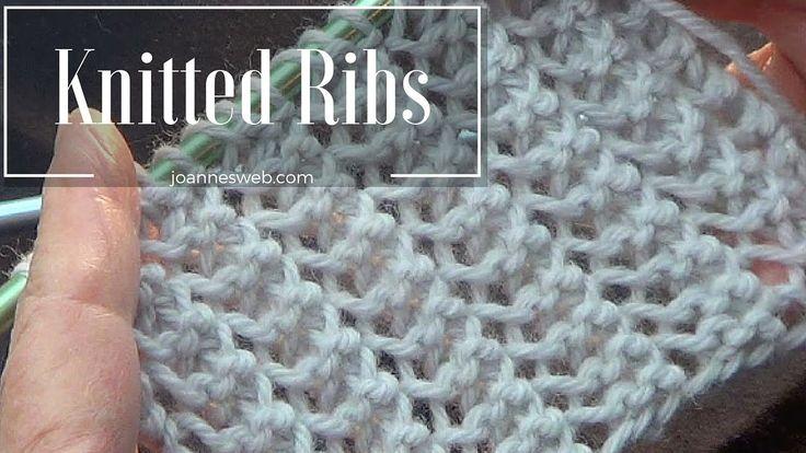 Rib Stitch | Knitted Rib Stitch | Super Easy and Fast
