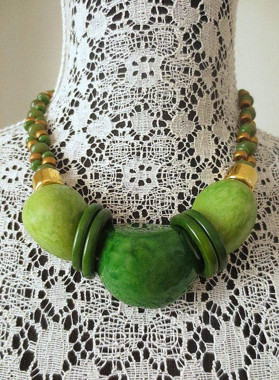 Tuerca de tagua collar 24 dorados granos de cerámica pulseras