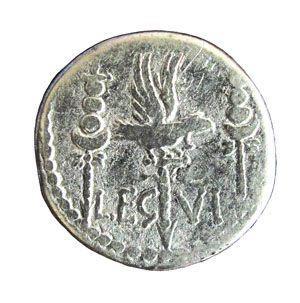 Casssettino Hoard; M. Antonius, legionary coin