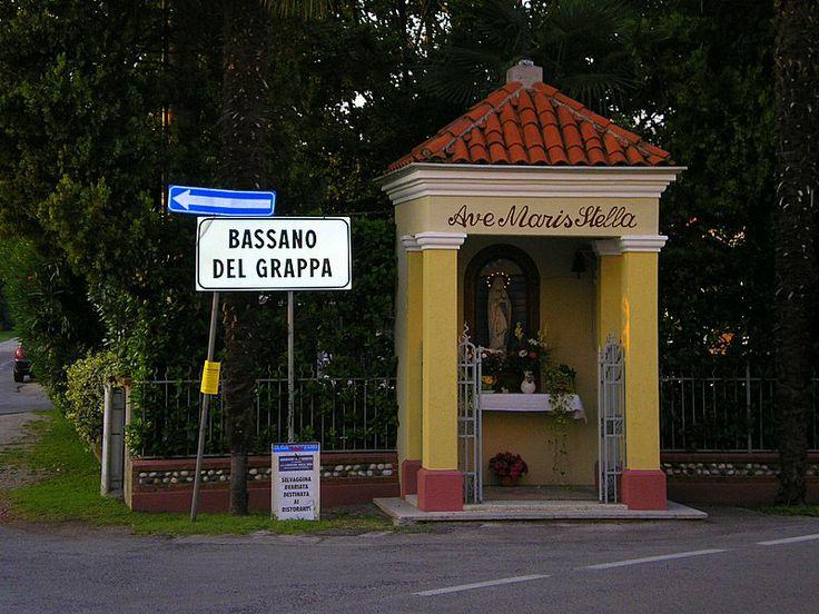 Shrine in quiet Bassano Del Grappa street, Vicenza, Italy