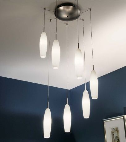 Wonderful nice adorable cute small corner lighting fixture with pendant light concept and has white diy design concept hanged on the ceiling