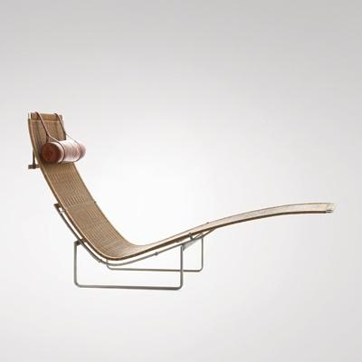 PK 24, 1965 | long chair . Liegestuhl . chaise longue | Design: Poul Kjærholm | Kold Christensen |