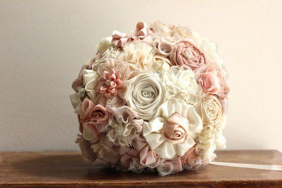 Ready to ship wedding  Bouquet blush bouquet by MySecretFace
