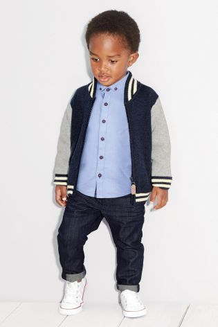 Buy Knitted Baseball Jacket (3mths-6yrs) from the Next UK online shop will need this whole outfit!!!